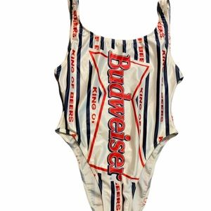 Vintage Budweiser one piece swimsuit